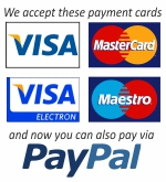 Pay for your order with your credit or debit card, or via PayPal