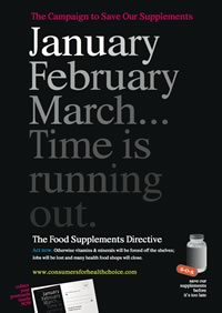 Save Our Supplements campaign